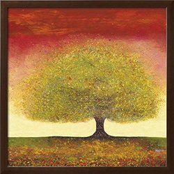 "Art.com Dreaming Tree Red by Melissa Graves-Brown Framed Art Print, 29"" H by 29"" W"