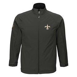 NFL New Orleans Saints Boy's Soft Shell Jacket - Cool Grey - Size:  L