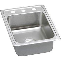 Elkay LRAD1722651 1 Faucet Hole Gourmet Lustertone Stainless Steel 17