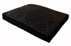 Pampered Pets Animal Print Rectangle Pet Bed - Pink/Brown - Size: Large