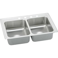 Elkay Stainless Steel Double Bowl Drop-In Kitchen Sink 1