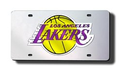 Los Angeles Lakers Laser Cut License Plate silver