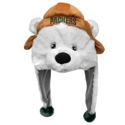 Forever Collectibles Green Bay Packers Mascot Dangle Hat - Adult