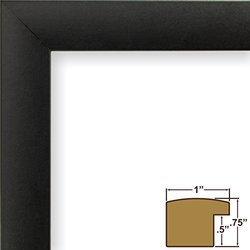 Craig Frames 1WB3BK 15 by 31-Inch Picture/Poster Frame, Smooth Finish, 1-Inch Wide, Matte Black