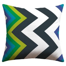 DENY Designs Karen Harris Modernity Galaxy Cool Chevron Outdoor Throw Pillow, 18 x 18
