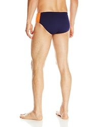 TYR SPORT Men's Phoenix Splice Racer Swimsuit (Navy/Orange, Size 26)