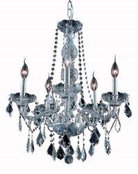 Elegant Lighting 5-Light Silver Chandelier with Grey Crystal