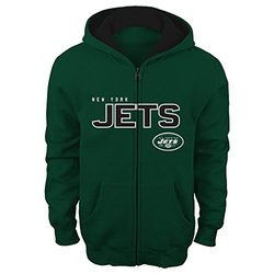 "NFL New York Jets Boy's 4-7 ""Stated"" Full Zip Hoodie - Hunter - Size: S"