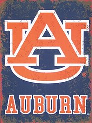Auburn University Distressed Metal Sign
