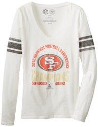 NFL San Francisco 49ers 2012 NFC Champs Women's Homerun Tee - White - Sz:L