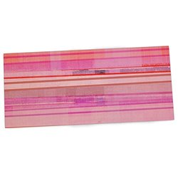 "KESS InHouse CarolLynn Tice ""Starwberry Shortcake"" Pink Stripes Office Desk Mat, Blotter, Pad, Mousepad, 13 x 26-Inches"