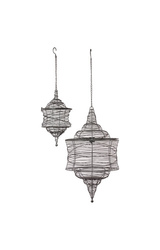 Urban Trends Home & Garden Accents 2 Piece Metal Decorative Lantern Set