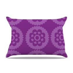 Kess InHouse Nicole Ketchum Moroccan Purple 36 by 20-Inch Pillow Case, King