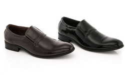 Franco Vanucci Men's Slip-on Dress Shoes - Black - Size: 10.5