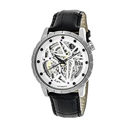 Reign Xavier Men's Watch: RN3901/Black Band-White-Silver Dial