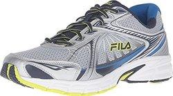 Fila Men's Omnispeed Sneaker - Metallic Silver/Navy/Lime Punch - Size: 11