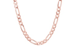 Regal Jewelry Unisex 18K Italian Chain Necklace - Rose Gold - Size: 24""