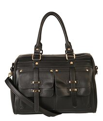Rimen & Co. Doctor Style Women Handbag Purse: Black