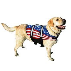 Pawz Pet Products Nylon Dog Life Jacket Small Flag