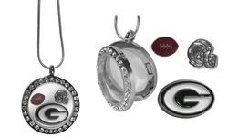 NFL Women's Green Bay Packers Locket Necklace - Metal