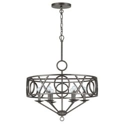 Crystorama Lighting 6 Light Chandelier - English Bronze
