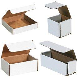 Bauxko Lightweight White Corrugated Mailers 12 Pack