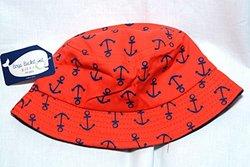 Boys Bucket Hat Sharks - Orange - Size: 4-6X