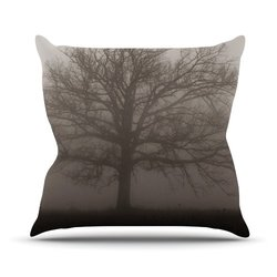 "Kess InHouse Angie Turner ""Lonely Tree"" Dark Fog Outdoor Throw Pillow, 26 by 26-Inch"