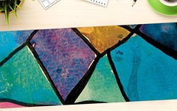 "KESS InHouse Theresa Giolzetti ""Stain Glass 2"" Office Desk Mat, Blotter, Pad, Mousepad, 13 x 22-Inches"