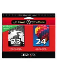 Lexmark 18C1571 #23/24 Twin-Pack Print cartridge Black Tri-Color