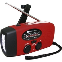 Ambient Weather Compact Emergency Solar Hand Crank - Red