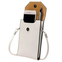 "6.5""x4.5""x1"" Trendy Cross Body Smartphone Bag - White"