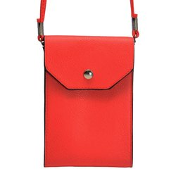 "6.5""x4.5""x1"" Trendy Cross Body Smartphone Bag - Red"
