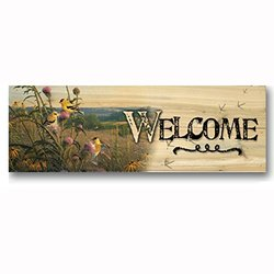 "WGI-Gallery 24"" x 8"" Golden Meadow Welcome Wall Art (W-GM-248)"