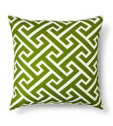 "Threshold 24"" x 24"" Oversized Greek Key Toss Pillow - Green"