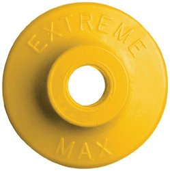 Extreme Max 5900.1206 Yellow Round Plastic Backer - Pack of 48