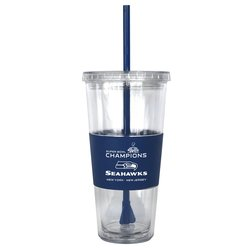 NFL 2014 Super Bowl XLVIII Champions 22-Ounce Tumbler with Straw