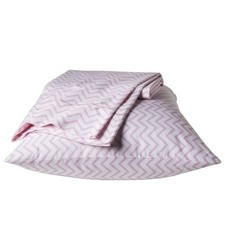 Pillowfort Chevron Sheet Set - Pink - Queen