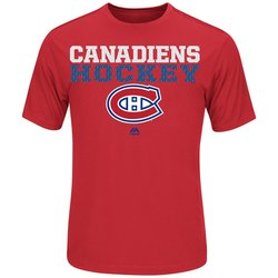 Majestic Athletic Men's NFL Montreal Canadiens T-Shirt - Red - Sz: Medium