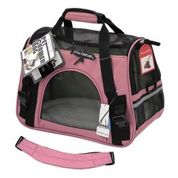 OxGord Airline Pet Carriers w/ Fleece Bed For Dog & Cat - Rose Wine - Med