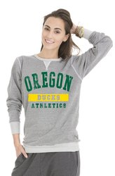 NCAA Women's Oregon Ducks Colby Tri-Blend Sweatshirt - Grey - Size: Small