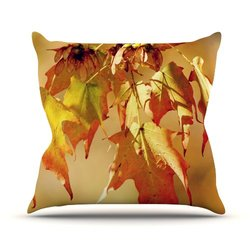 "Kess InHouse 20"" x 20"" Angie Turner ""Autumn Leaves"" Throw Pillow - Orange"