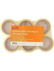 "Lightweight moving and storage tape 6 rolls 2.2 mil 1.88""x 54.6 yards each"