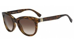 Fendi Women's Sunglasses - Blonde Havana Frames/Coffee Lens - Size: 52mm