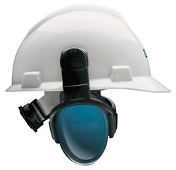 MSA Left/Right Passive Cap-Mounted Earmuff - Blue - Size: Medium