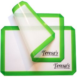 Teresa's Kitchen Silicone Baking Mat for Oven/Toaster Oven - 2 Set - Green