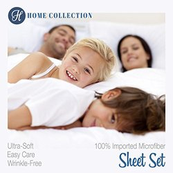 Ienjoy Home 6 Pcs Wrinkle Free Bed Sheet Set - Gray - Size: C King