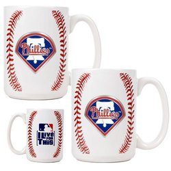 MLB Philadelphia Phillies Two Piece Ceramic Gameball Mug Set - Primary Logo