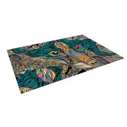 "Kess InHouse Danny Ivan ""Fox"" Outdoor Floor Mat/Rug, 4 by 5-Feet"