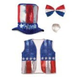 Beistle 60714 Party Costume Accessories Uncle Sam Set